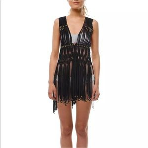 NWT- Elan Boho Fringe Cover Up